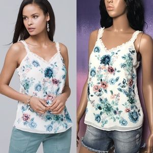 WHBM Floral Embroidered Cami